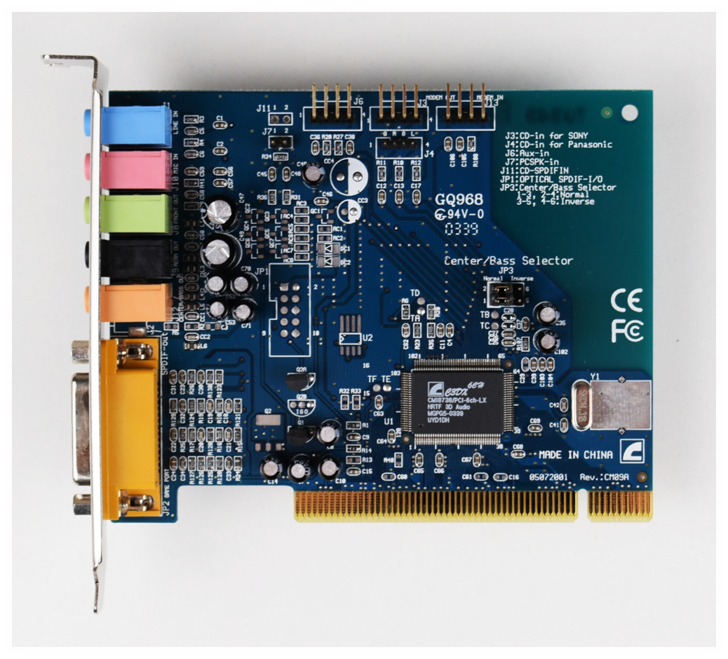 c-media cmi8738 c3dx audio device pci
